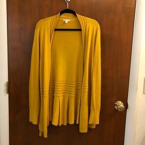 Cato gold cardigan sweater
